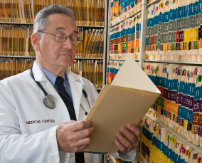 Doctor viewing Patient Records