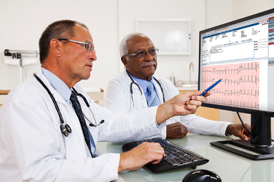 Physicians using Cardio Server to read ECGs online